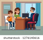 principal school. parents kids... | Shutterstock .eps vector #1276140616
