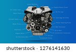 v type car engine parts  ... | Shutterstock . vector #1276141630