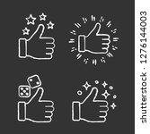 like chalk icons set. gambling... | Shutterstock .eps vector #1276144003