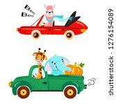 set of kids transport with... | Shutterstock .eps vector #1276154089
