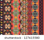 aztecs seamless pattern on hot... | Shutterstock .eps vector #127615580