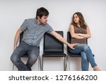 young man is touching woman in...   Shutterstock . vector #1276166200
