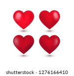 set of four realistic red... | Shutterstock .eps vector #1276166410