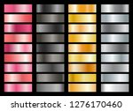 metallic swatches. black and... | Shutterstock .eps vector #1276170460