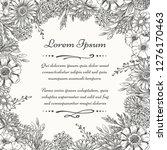 sketch botanical frame. vintage ... | Shutterstock .eps vector #1276170463