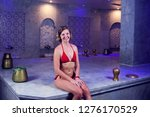 young woman in red bikini...   Shutterstock . vector #1276170529