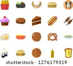color flat icon set cake flat... | Shutterstock .eps vector #1276179319