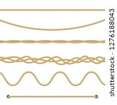 set of different ropes on white ... | Shutterstock .eps vector #1276188043