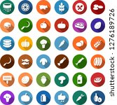 color back flat icon set  ... | Shutterstock .eps vector #1276189726