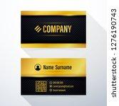 business card. modern black and ... | Shutterstock .eps vector #1276190743