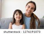 portrait of happy kid girl and...   Shutterstock . vector #1276191073