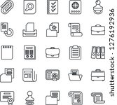 thin line icon set   passport... | Shutterstock .eps vector #1276192936