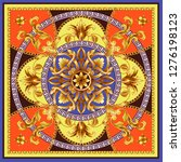 design scarf with golden... | Shutterstock .eps vector #1276198123