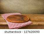 wooden board stand on... | Shutterstock . vector #127620050