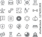 thin line icon set   reception... | Shutterstock .eps vector #1276201303