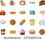 color flat icon set cake flat... | Shutterstock .eps vector #1276202116