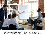 female executive leader... | Shutterstock . vector #1276205170