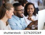smiling african employee team... | Shutterstock . vector #1276205269