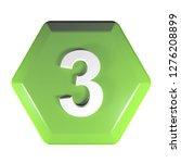 a green hexagonal push button...   Shutterstock . vector #1276208899