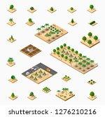 isometric 3d set park | Shutterstock . vector #1276210216