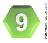 a green hexagonal push button...   Shutterstock . vector #1276212370