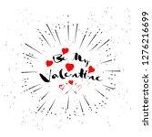 happy valentines day design...   Shutterstock .eps vector #1276216699