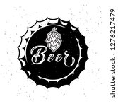 vintage craft beer logo with...   Shutterstock .eps vector #1276217479