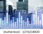 financial graphs and charts on... | Shutterstock . vector #1276218820