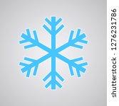 snowflake logo  freezer icon.... | Shutterstock .eps vector #1276231786