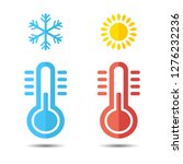 hot and cold temperature icon.... | Shutterstock .eps vector #1276232236