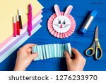 child makes bunnies out of... | Shutterstock . vector #1276233970