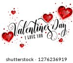 happy valentine's day... | Shutterstock .eps vector #1276236919