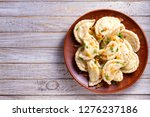 dumplings  filled with cabbage. ... | Shutterstock . vector #1276237186