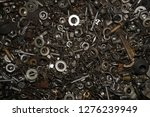 a lot of bolts  and nuts  and... | Shutterstock . vector #1276239949