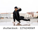 stylish young male dancer in... | Shutterstock . vector #1276240069