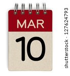10 march calendar | Shutterstock . vector #127624793