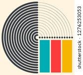 seamless circlular pattern.... | Shutterstock .eps vector #1276253053