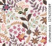 abstract flowers seamless... | Shutterstock . vector #1276253389