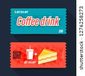 coffee drink coupon ticket card.... | Shutterstock .eps vector #1276258273