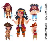 Cartoon Character Girl Pirates...