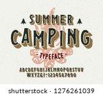 vintage 3d modern alphabet.... | Shutterstock .eps vector #1276261039