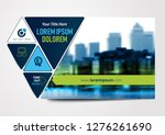 vector brochure  flyer ... | Shutterstock .eps vector #1276261690