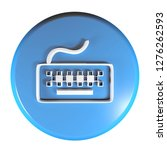 a blue circle push button with...   Shutterstock . vector #1276262593