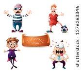 cartoon set characters thief ... | Shutterstock .eps vector #1276263346