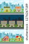 set of three illustrations of... | Shutterstock . vector #1276267189