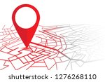 gps navigator pin. map with a... | Shutterstock .eps vector #1276268110