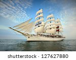 Tall Ship Under Sail With The...