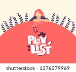 my playlist hand drawn stylized ... | Shutterstock .eps vector #1276279969