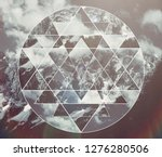 abstract meditative collage... | Shutterstock . vector #1276280506