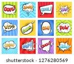 comic sounds. cartoon explode... | Shutterstock .eps vector #1276280569